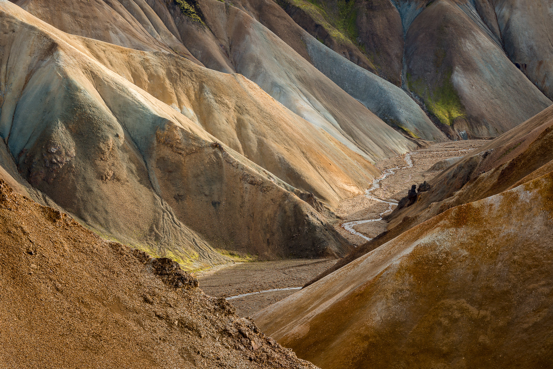 The shapes of Landmannalaugar